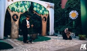 Спектакль Флора за жизнь в дворике театра