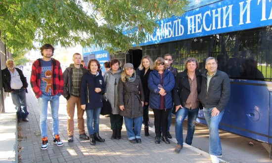 Артисты отъезжают в Тверь