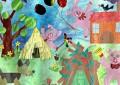 Рисунок на конкурс Три поросёнка